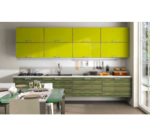 Кухонный гарнитур Хамелеон, цвет - желтый, стиль - современный